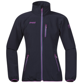 Bergans Girls Kjerag Youth Jacket Navy/Steel Blue/Pink Rose